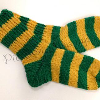 34-35-36 Raitasukat vihreä-keltainen-0