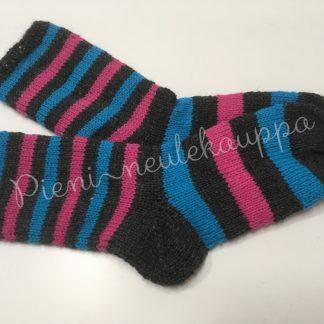37-38-39 Sileävartiset grafiitti-sininen-pinkki #270-0